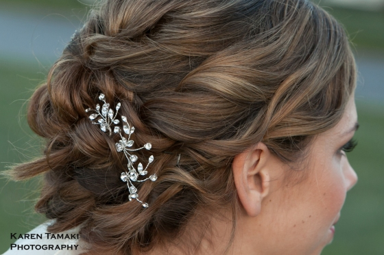 Paula Rhinestone Vine Hairpin Set - photo by Karen Tamaki Photography