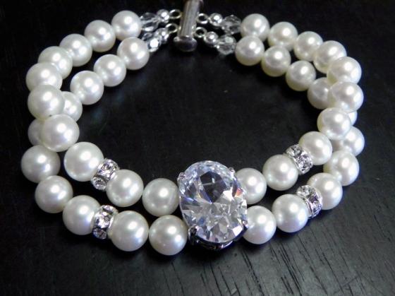 Pearl and CZ Bracelet