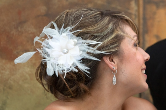 Gina Hair Flower by One World Designs, photo by Karen Tamaki Photography