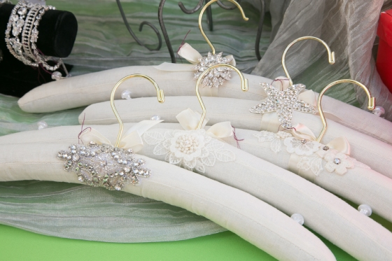 Bridal gown hangers by One World Designs