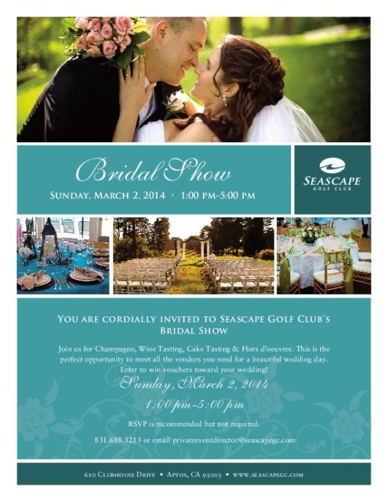Seascape Golf Club Bridal Show Flyer 2014